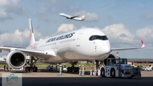 JAL、A350-900初号機が羽田空港に到着